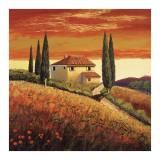 Sunset Over Tuscany II Affiches par Santo De Vita