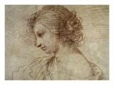 Profile of a Woman Print by  Guercino (Giovanni Francesco Barbieri)