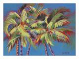 Five Crazy Palms Poster by Jean Bradley
