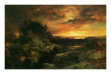 Arizona Sunset Near The Grand Canyon Posters by Thomas Moran