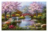 Sung Kim - Japonská rozkvetlá zahrada Obrazy