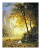 Hetch Hetchy Canyon Posters af Albert Bierstadt