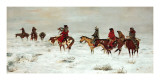 Lost In A Snowstorm, We Are Friends Posters af Charles Marion Russell