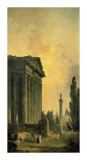 Temple Ruins Posters by Hubert Robert