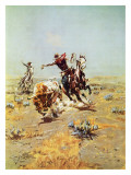 Cowboy Roping a Steer Art by Charles Marion Russell