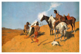 The Smoke Signal Posters by Frederic Sackrider Remington