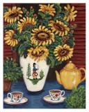 Sunflower Tea Kunstdrucke von Suzanne Etienne