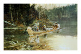 On The Flathead Prints by Charles Marion Russell