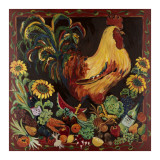 Wine and Rooster Prints by Suzanne Etienne