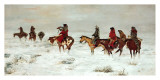 Lost In A Snowstorm, We Are Friends Prints by Charles Marion Russell
