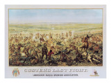 Custer's Last Fight Kunst af Edward Szmyd