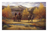 Fall Riders Posters by Joe Sambataro