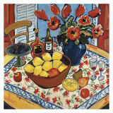 The Lemon Bowl Print by Suzanne Etienne
