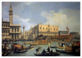 The Betrothal of the Venetian Doge to the Adriatic Print by  Canaletto