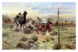 When Horse Flesh Comes High Prints by Charles Marion Russell