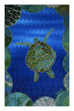 Turtle on Blue Posters by  Rogest