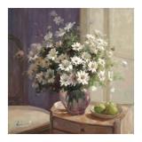 Marguerites Et Pommes Vertes Posters par  Lilian