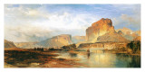 Cliffs of the Green River Print by Thomas Moran