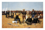A Calvaryman's Breakfast On The Plains Posters by Frederic Sackrider Remington
