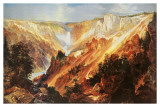 The Grand Canyon of The Yellowstone Print by Thomas Moran
