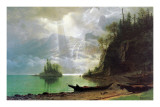 The Island Prints by Albert Bierstadt