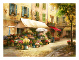 The Flower Market Prints by Han Chang