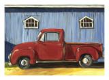 Camión rojo Posters por Suzanne Etienne