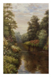 Flowers on the Bank Print by  Willard