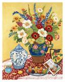 Poires et fleurs Affiches par Suzanne Etienne