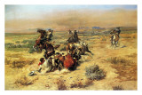 The Strenous Life Plakater af Charles Marion Russell