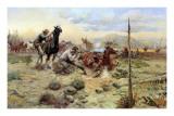 When Horse Flesh Comes High Kunst af Charles Marion Russell