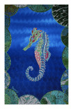 Seahorse on Blue Prints by  Rogest