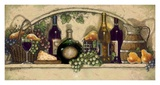 Wine, Fruite 'n Cheese Poster by Janet Kruskamp