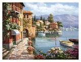Villa de Lago Posters par Sung Kim