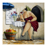 Wine Tasting at Café da Vinci II Print by Ronald West