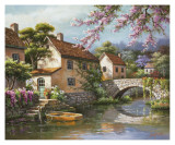 Sung Kim - Country Village Canal Plakát