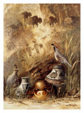 Pots and Quails Affiches par Alma Lee