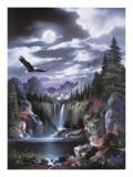 Moonlit Eagle Poster di Alma Lee
