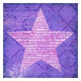 Superstar Purple Prints by Suzanna Anna