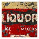 Liquor and Mixer Prints by Aaron Christensen