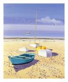 Barcos sobre la playa Posters por Henri Deuil