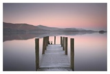 Water Jetty Sunrise Posters by John Potter