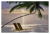 Chaise for Two Print by Diane Romanello