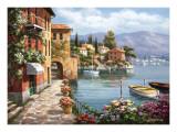 Villa de Lago Print by Sung Kim