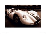 1958 Lister Jaguar No.62 Reproduction procédé giclée par Jamie Hankin