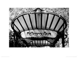 Metro Entrance, Paris Giclee Print by Heiko Lanio