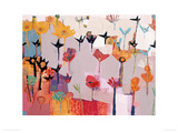 Wild Blooms Giclee Print by Becky Blair