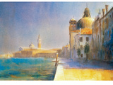Along The Guidecca Giclee Print by Cecil Rice