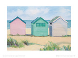 Beach Huts Giclee Print by Jane Hewlett