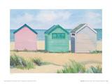 Chozas en la playa Lámina giclée por Jane Hewlett